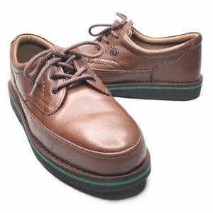 Hush Puppies The Walking Shoe Brown Leather